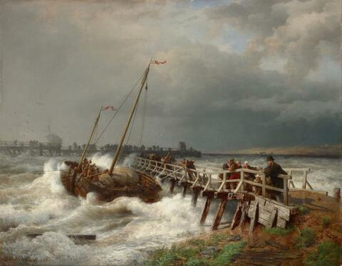 Andreas Achenbach - THE AVERAGE AT THE OLD PIER