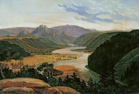 Carl Friedrich Lessing - LANDSCAPE IN THE EIFEL