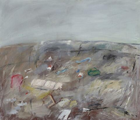 Klaus Fußmann - Untitled (Landscape, Sketch)