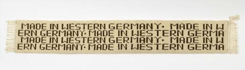 Rosemarie Trockel - Made in western Germany