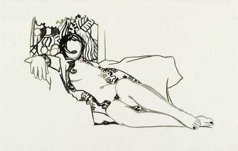 Tom Wesselmann - Monica nude with Matisse