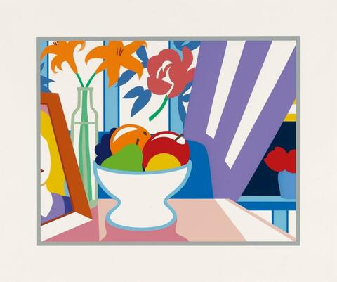 Tom Wesselmann - Still-Life with Lilies and Mixed Fruits