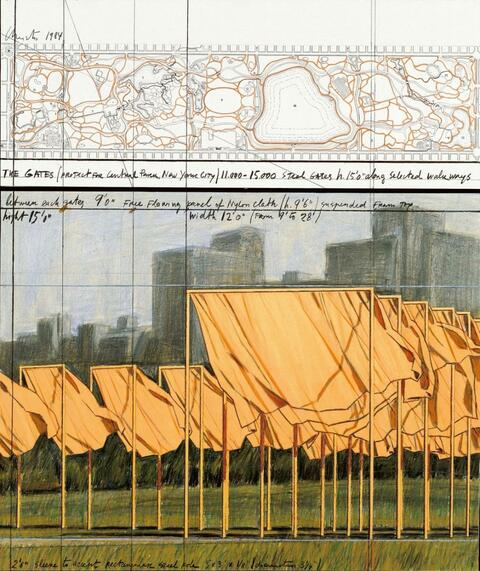 Christo - The Gates (Project for Central Park, New York City)