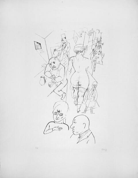 George Grosz - Tragigrotesken des Wieland Herzfelde