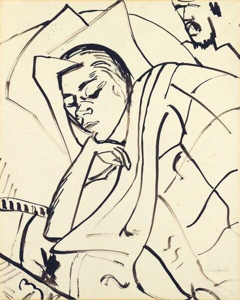 Erich Heckel - Schlafende