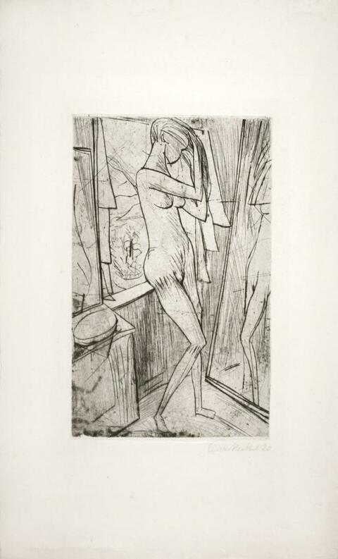 Erich Heckel - Mädchen vor dem Spiegel