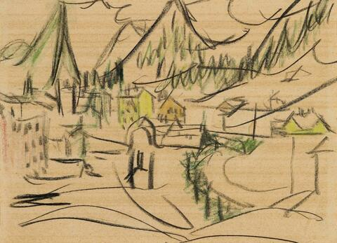 Ernst Ludwig Kirchner - View of Davos