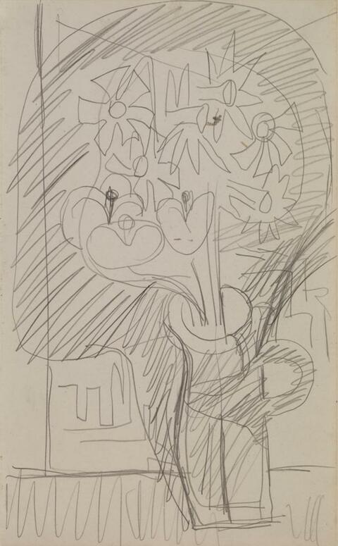 Ernst Ludwig Kirchner - Flower Still-Life (Daffodils in a Jug)