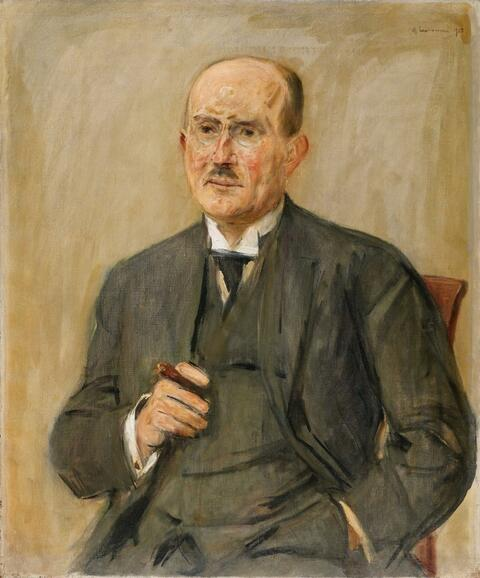 Max Liebermann - Portrait of an Unknown Man with Pince-nez and Cigar
