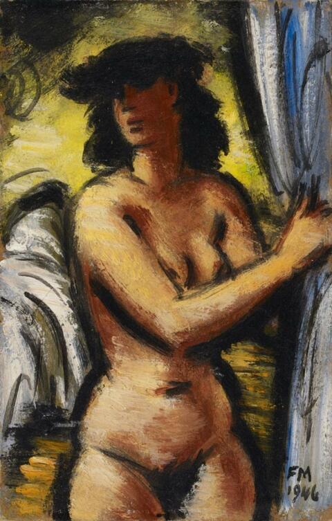 Frans Masereel - Nu debout devant un lit