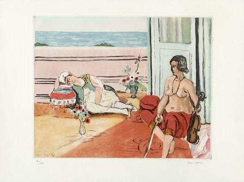 After Henri Matisse - Odalisque sur la terrasse