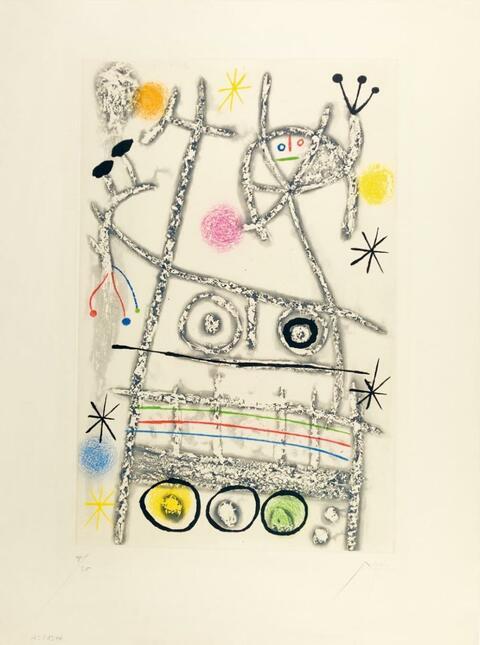 Joan Miró - Les forestiers (gris)