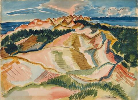Hermann Max Pechstein - Dune Landscape