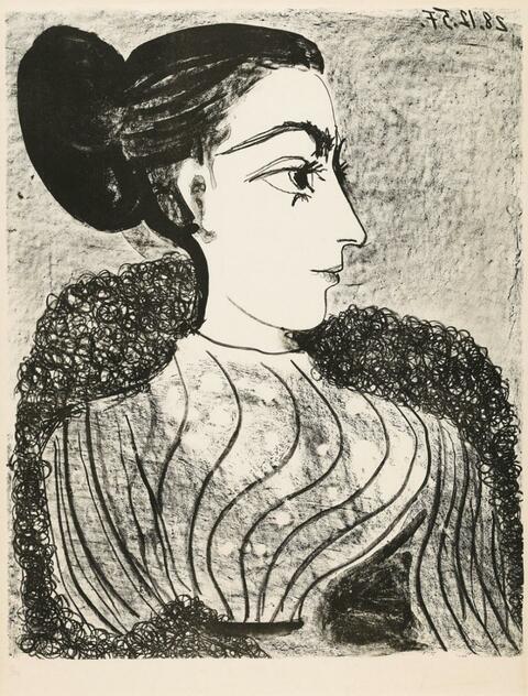 Pablo Picasso - Femme au chignon