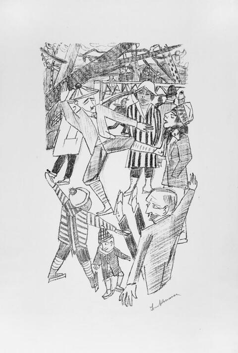 Max Beckmann - Eislauf