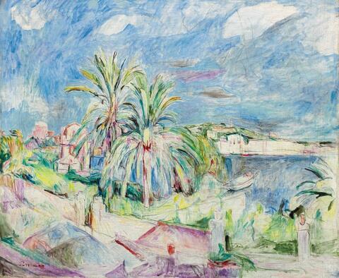 Hans Purrmann - The Harbor of Porto d'Ischia