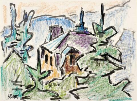 Karl Schmidt-Rottluff - Haus zwischen Bäumen
