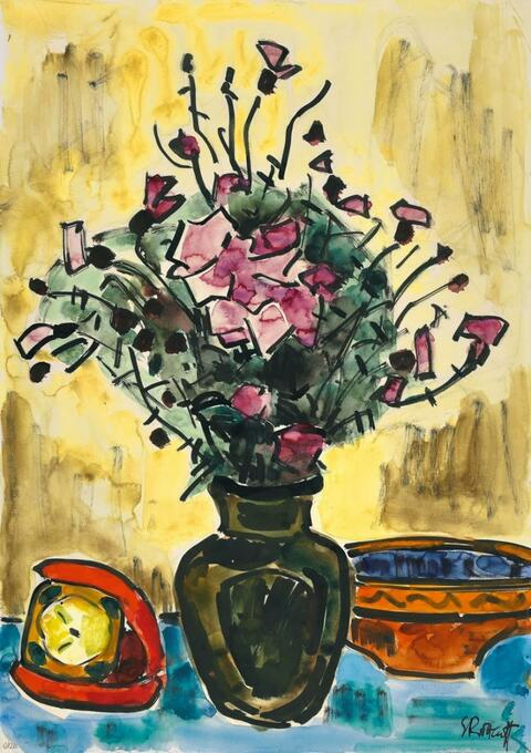 Karl Schmidt-Rottluff - Stilleben mit Blumenvase