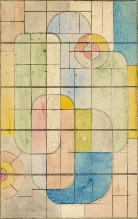 Franz Wilhelm Seiwert - Entwurf zu einem Glasfenster