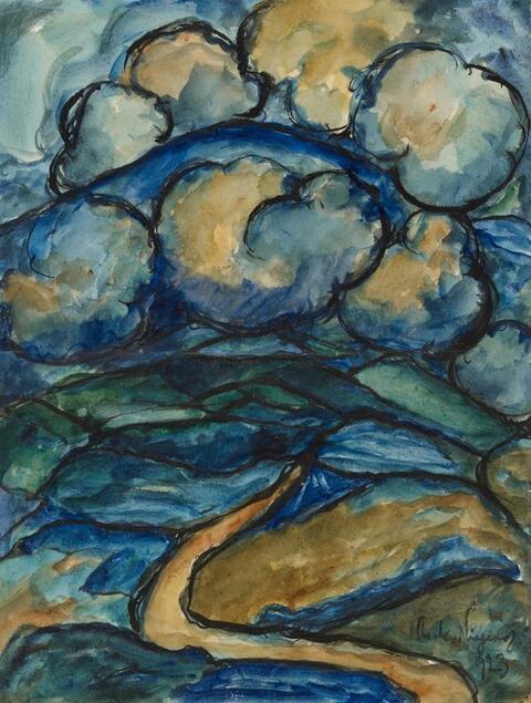 Eberhard Viegener - Berglandschaft unter Wolken