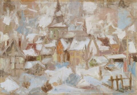 Eberhard Viegener - Dorf im Schnee