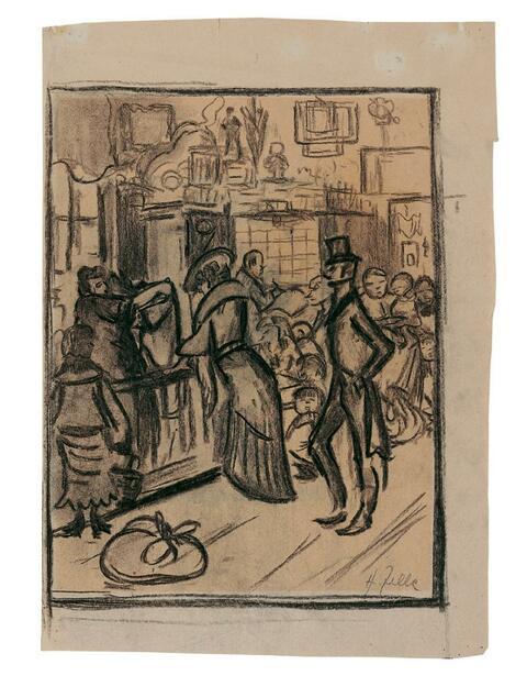 Heinrich Zille - In a Pawnshop