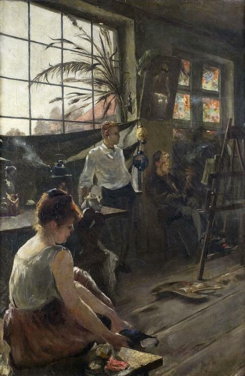 Deutscher Künstler des frühen 20. Jahrhunderts - IM ATELIER