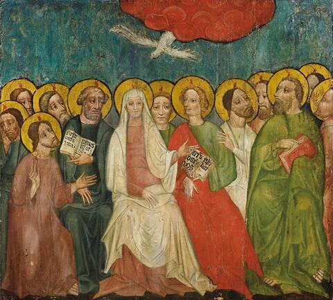 Bohemian School, circa 1400 - PENTECOST