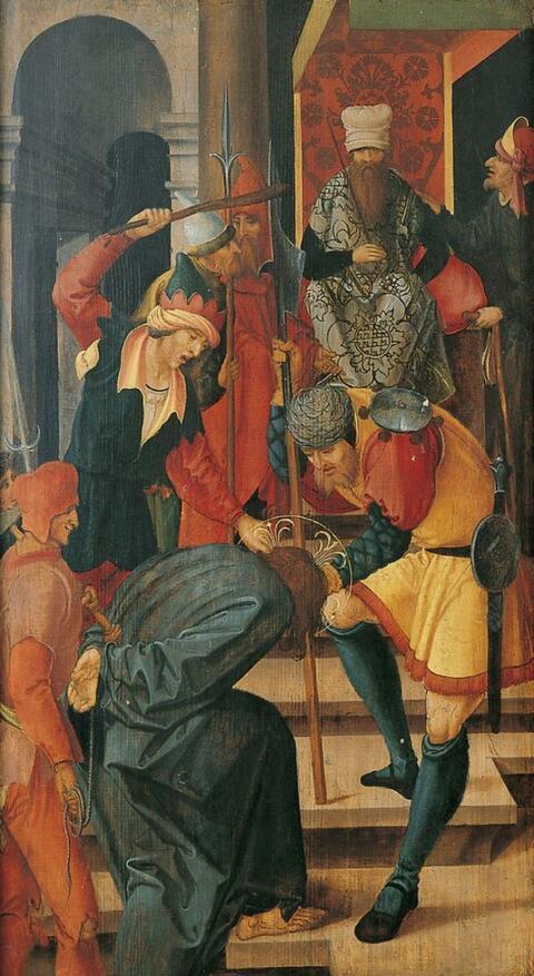 Süddeutscher Meister um 1515/1520 - CHRISTUS VOR ANNAS