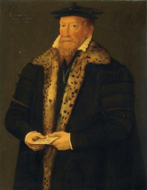Süddeutscher Meister Mitte 16. Jahrhundert - BILDNIS DES HIERONYMUS RIETLINGER