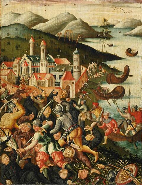 Süddeutscher Meister um 1570/1580 - ÜBERFALL AUF EIN KLOSTER