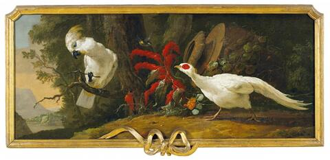 French School, second half 18th century - SURPORTE WITH FLOWERS