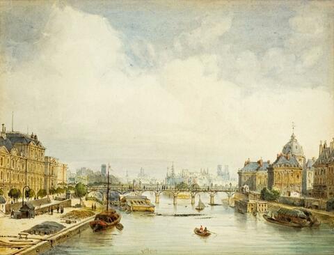 Französischer Meister Mitte 19. Jahrhundert - ANSICHT VON PARIS