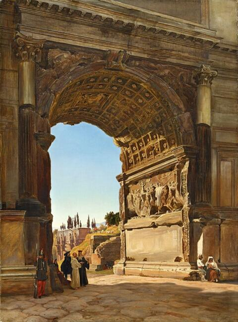 Friedrich Loos - THE ARCH OF TITUS IN THE FORUM ROMANUM