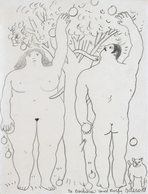 Fernando Botero - Ohne Titel (Adam und Eva)