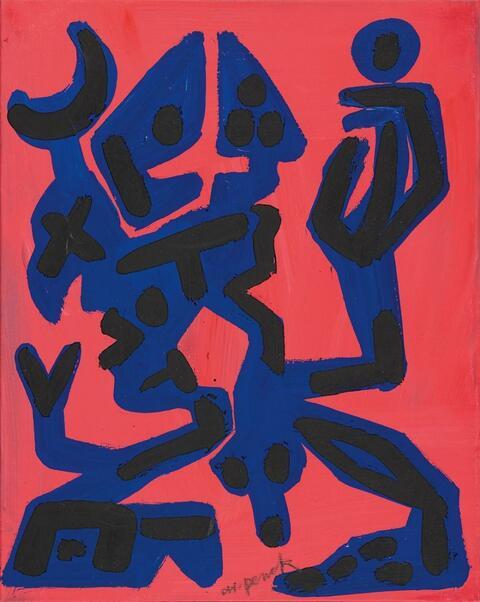 A.R. Penck - Konzept Blau-Rot 3