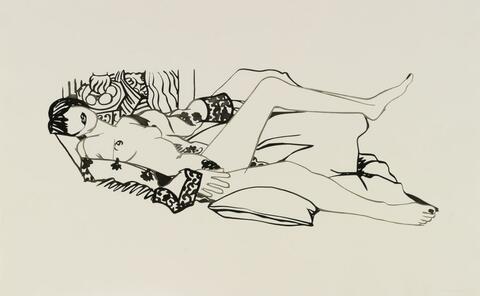 Tom Wesselmann - Monica nude in purple robe