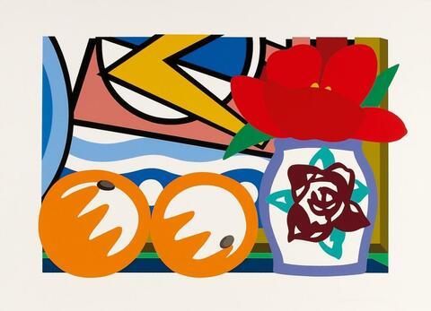 Tom Wesselmann - Still-Life with Lichtenstein and two Oranges
