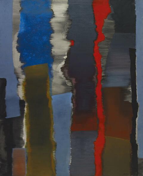 Fritz Winter - Räume Vertikal- mit Rot