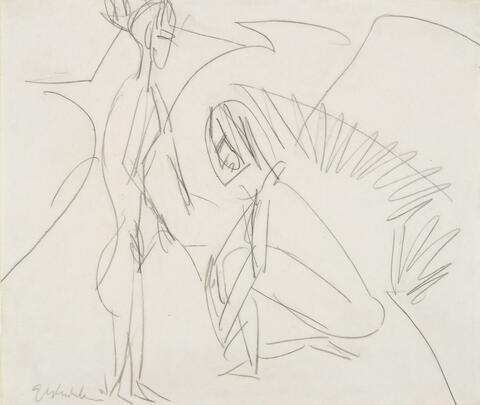 Ernst Ludwig Kirchner - Badende in den Dünen (Bathers in Dunes)