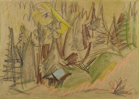 Ernst Ludwig Kirchner - Bergwald III (Mountain forest III)