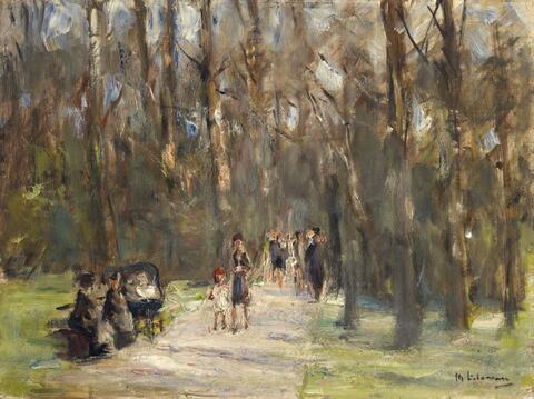 Max Liebermann - Spaziergang im Tiergarten (Walk in the Tiergarten)