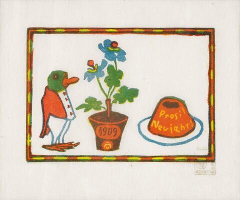 Gabriele Münter - Neujahrswunsch 1909