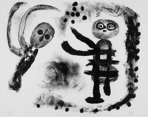 Joan Miró - Petite fille au bois