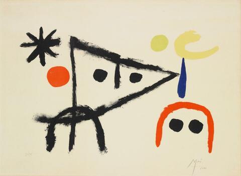 Joan Miró - Le petit chat au claire de la lune