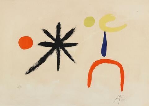 Joan Miró - La jeune fille au claire de la lune
