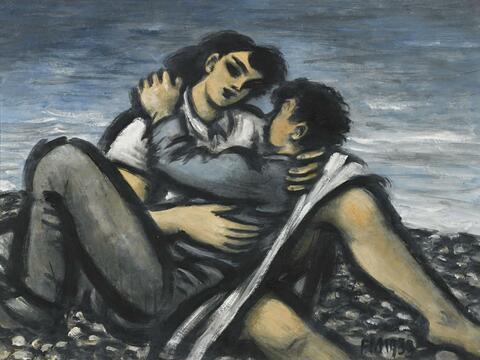 Frans Masereel - Amoureux sur la plage