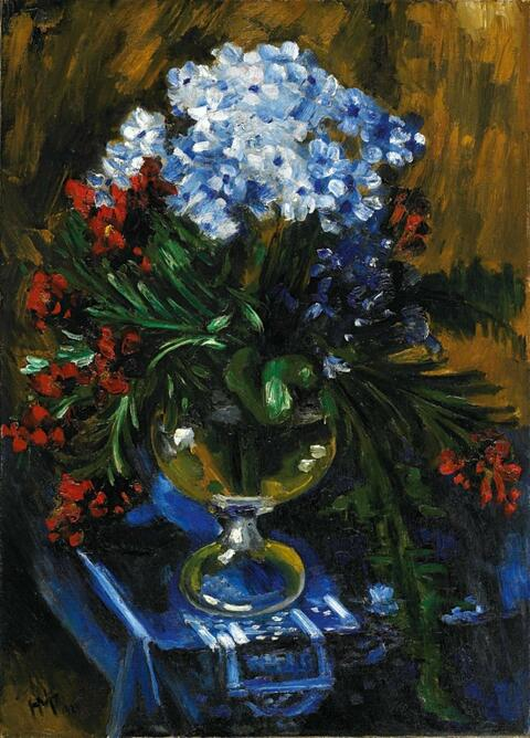 Hermann Max Pechstein - Blumenstilleben in Balustervase (Still-Life with Flowers in a Vase)