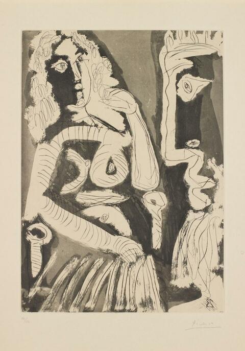 Pablo Picasso - Modèle au repos dans un fauteuil