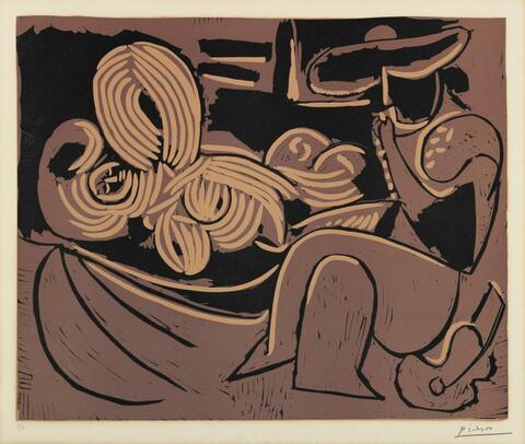 Pablo Picasso - L´Aubade, avec femme endormie